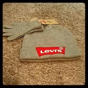 LEVI'S hat & glove set